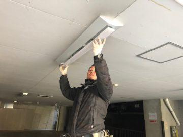 駐車場 LED化工事