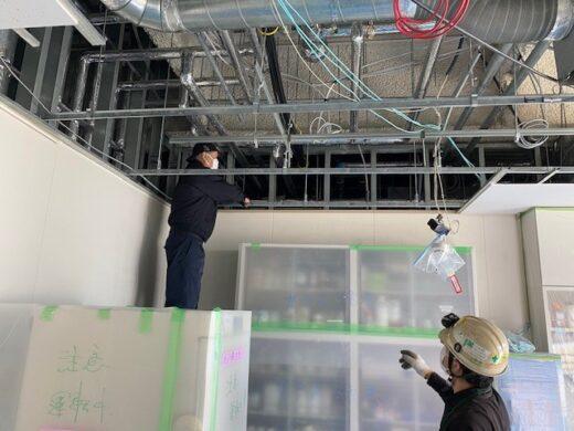 空気圧配管撤去工事